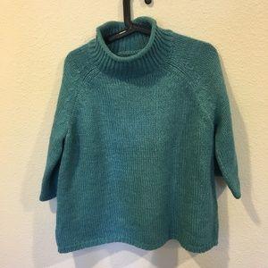 NWT Loft turquoise knit turtle neck